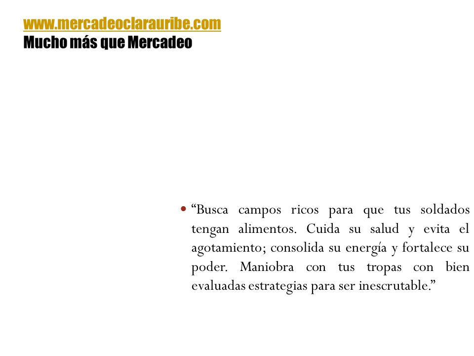 www.mercadeoclarauribe.com Mucho más que Mercadeo.