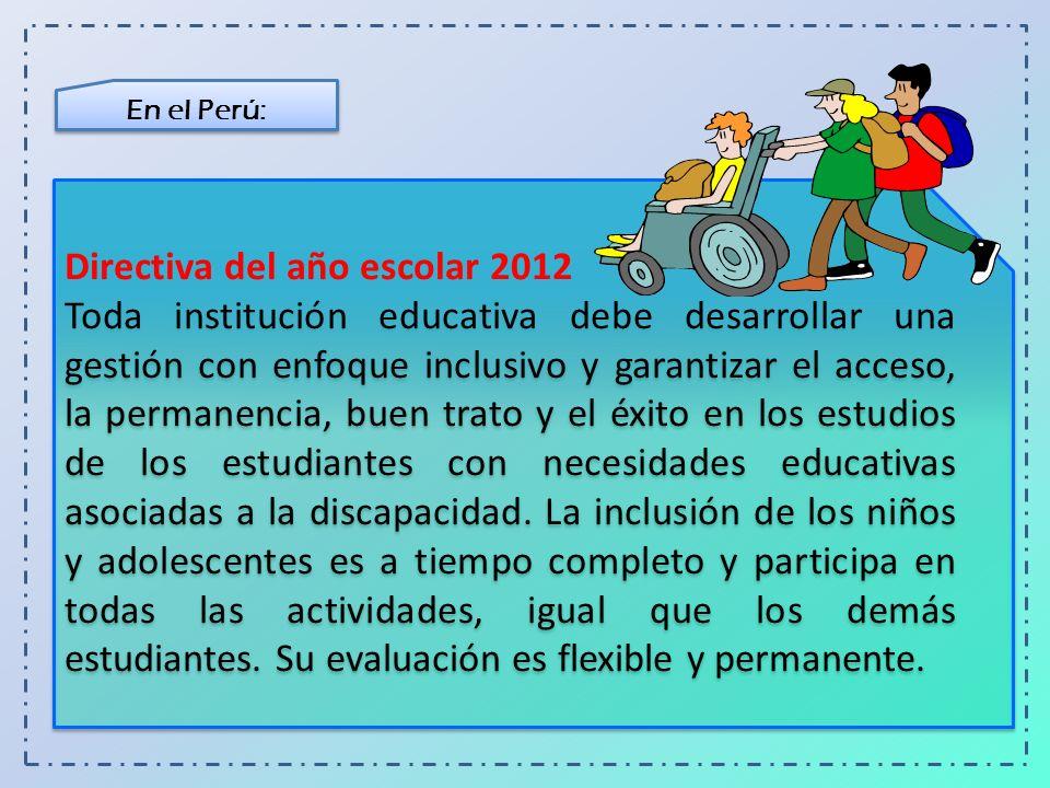 Directiva del año escolar 2012