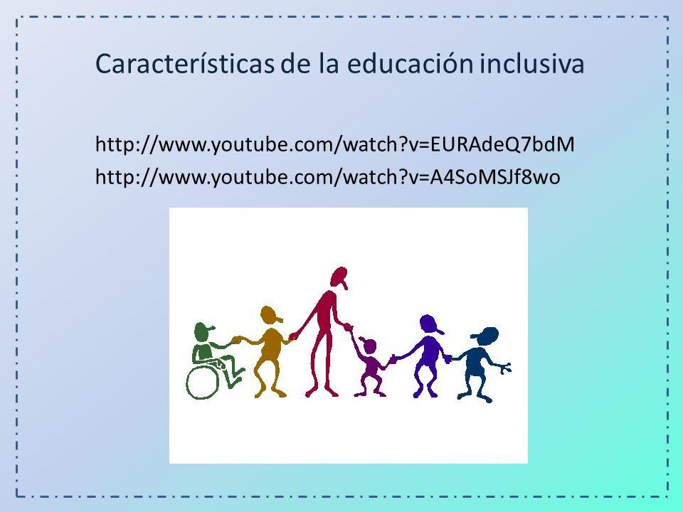 Características de la educación inclusiva