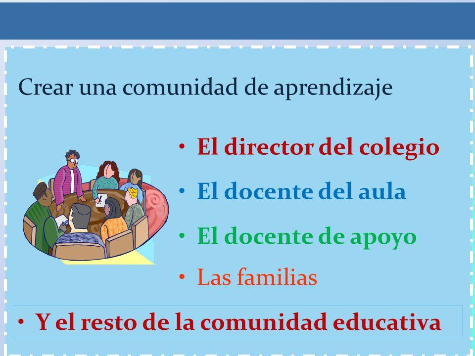 Crear una comunidad de aprendizaje