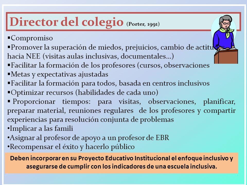 Director del colegio (Porter, 1991)