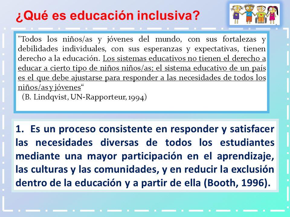 ¿Qué es educación inclusiva
