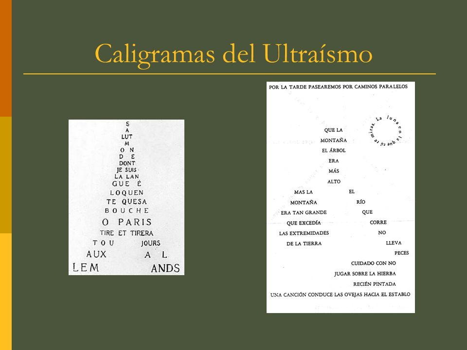 Caligramas del Ultraísmo