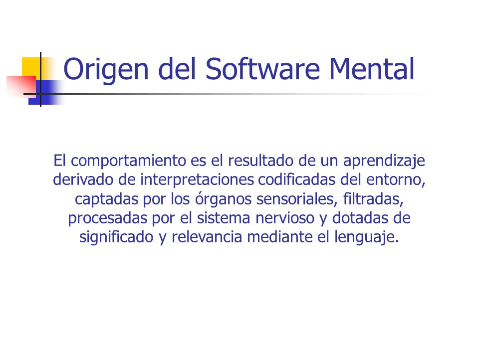Origen del Software Mental