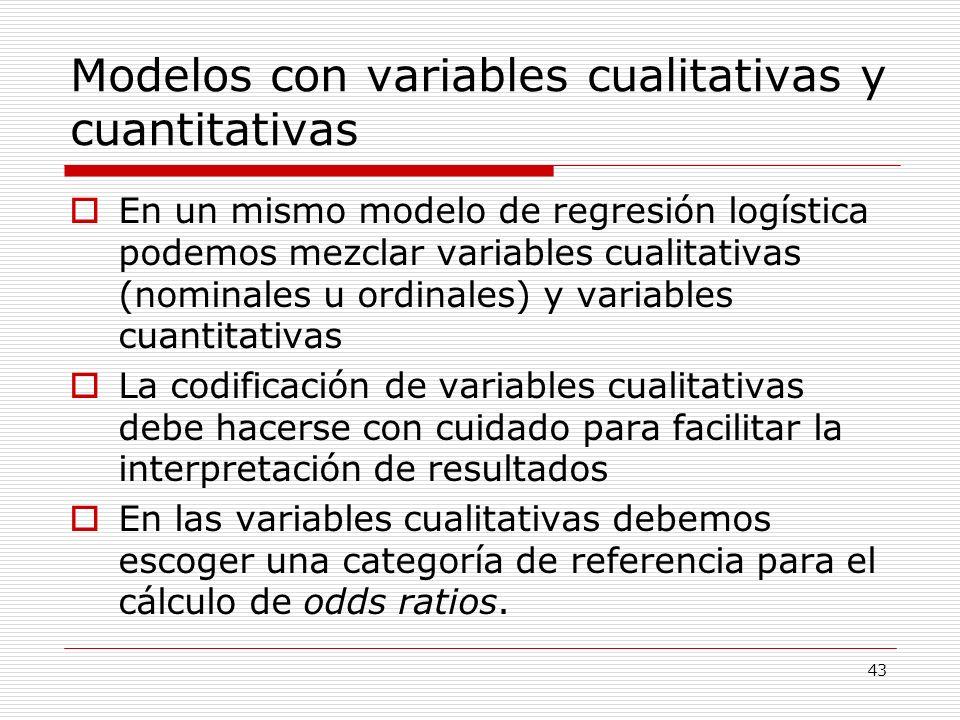 Modelos con variables cualitativas y cuantitativas