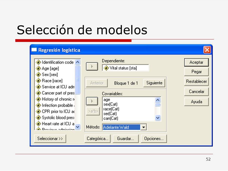 Selección de modelos