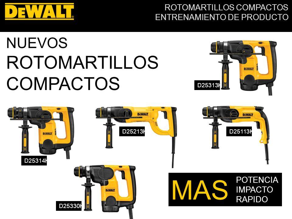 MAS ROTOMARTILLOS COMPACTOS NUEVOS POTENCIA IMPACTO RAPIDO D25313K