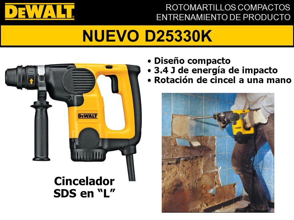 NUEVO D25330K Cincelador SDS en L Diseño compacto
