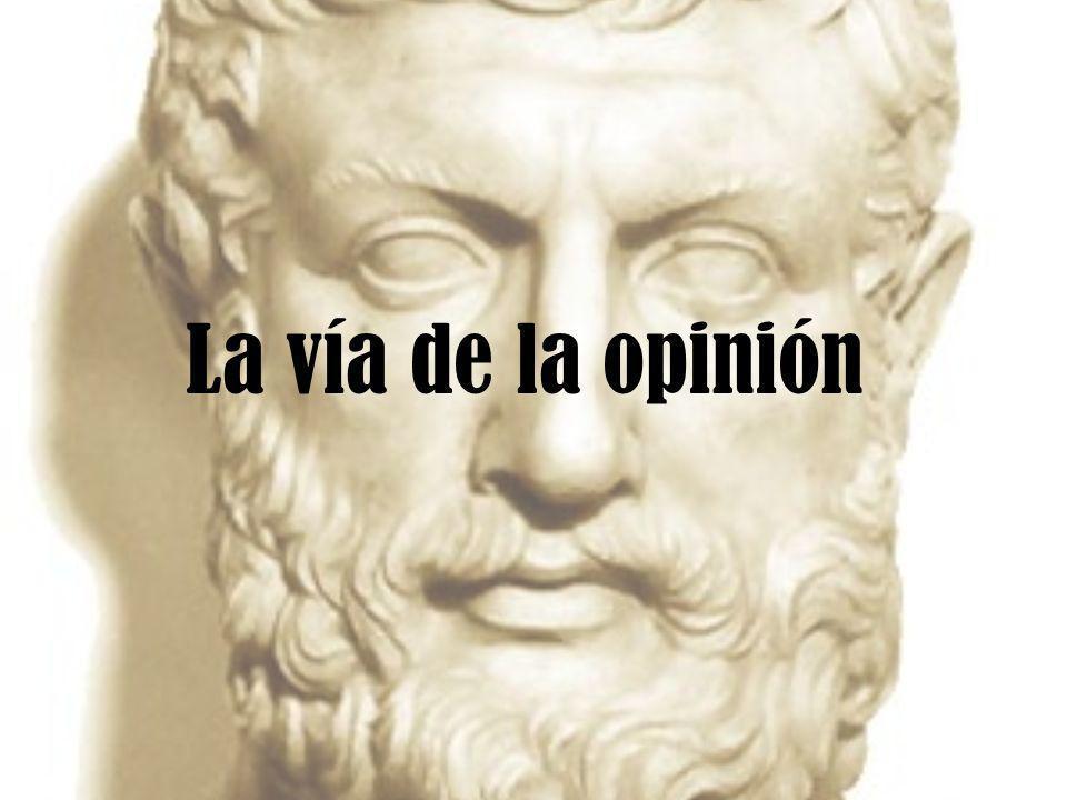 La vía de la opinión
