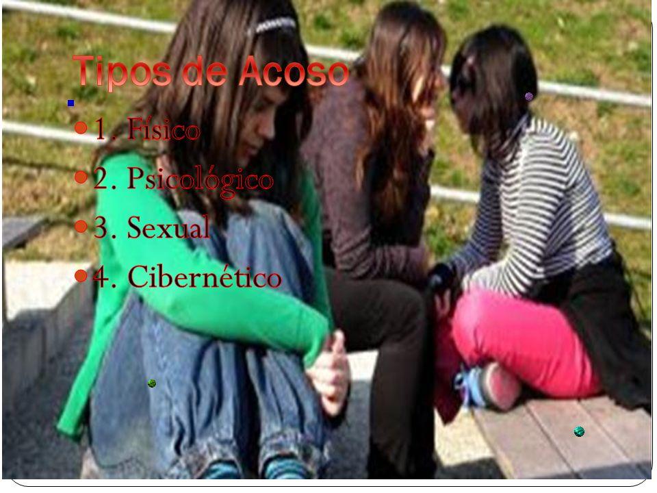 Tipos de Acoso 1. Físico 2. Psicológico 3. Sexual 4. Cibernético