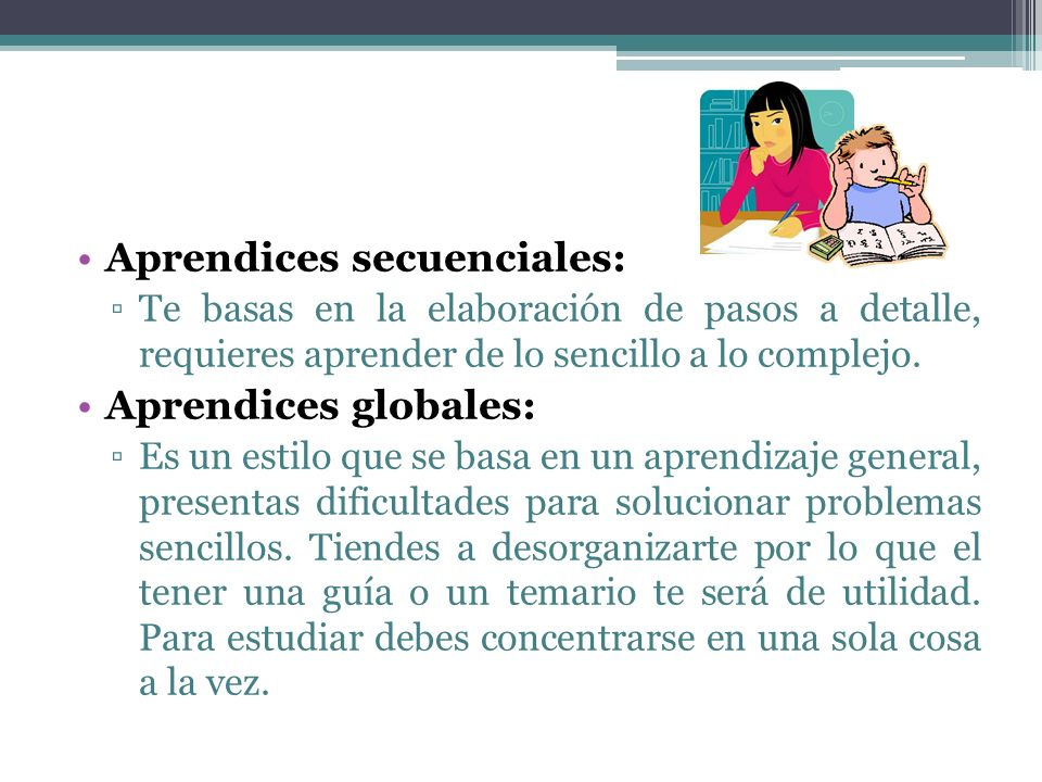 Aprendices secuenciales: