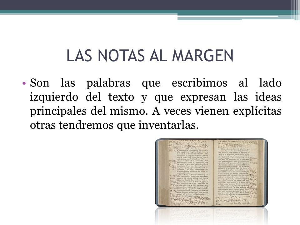 LAS NOTAS AL MARGEN