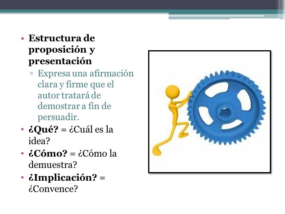 Estructura de proposición y presentación
