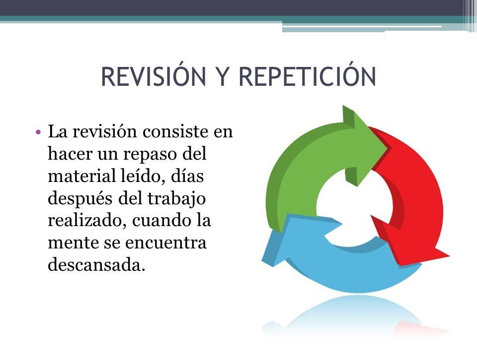 REVISIÓN Y REPETICIÓN