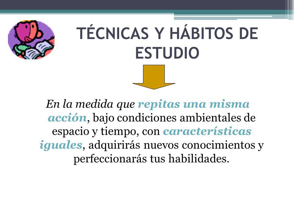 TÉCNICAS Y HÁBITOS DE ESTUDIO