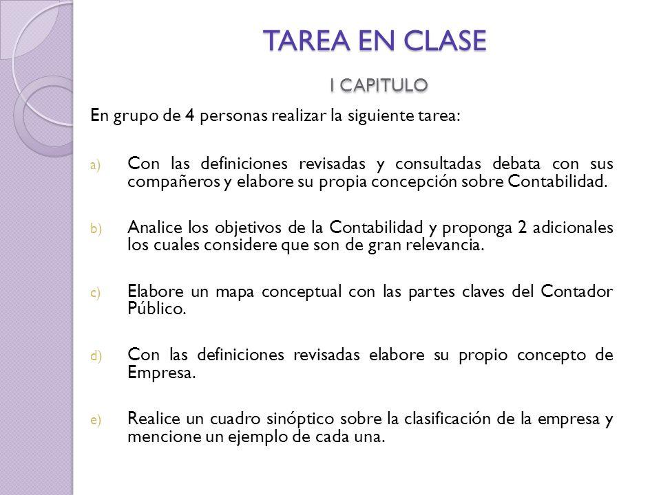 TAREA EN CLASE I CAPITULO