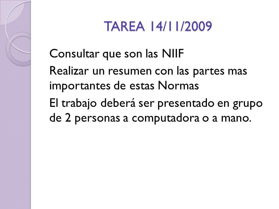 TAREA 14/11/2009