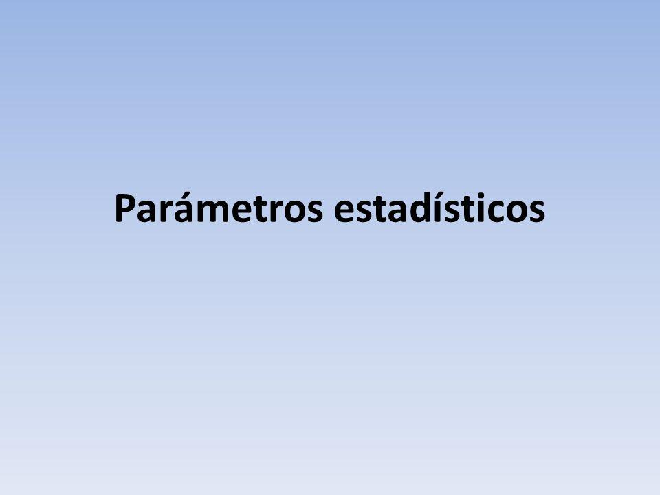 Parámetros estadísticos