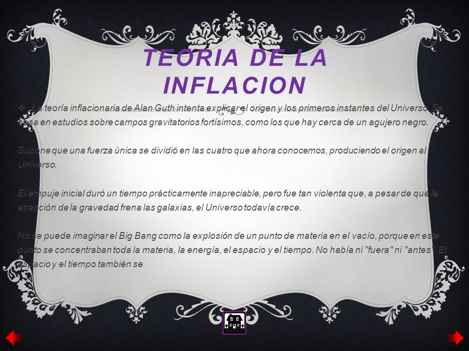 TEORIA DE LA INFLACION