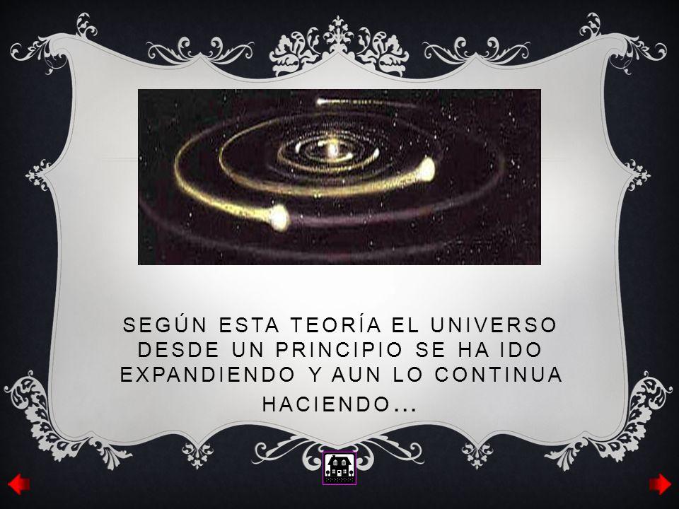 Según esta teoría el universo desde un principio se ha ido expandiendo y aun lo continua haciendo…