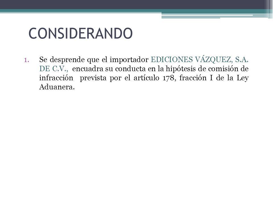CONSIDERANDO