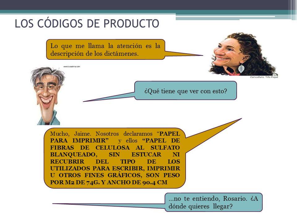 LOS CÓDIGOS DE PRODUCTO