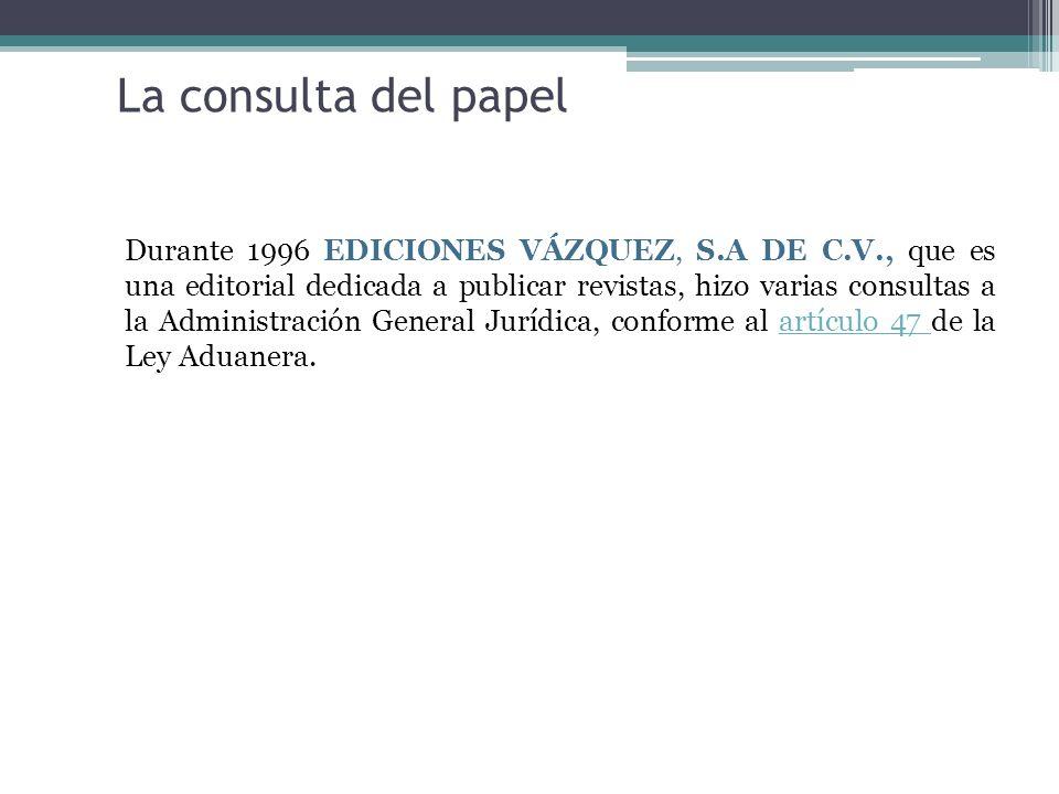 La consulta del papel