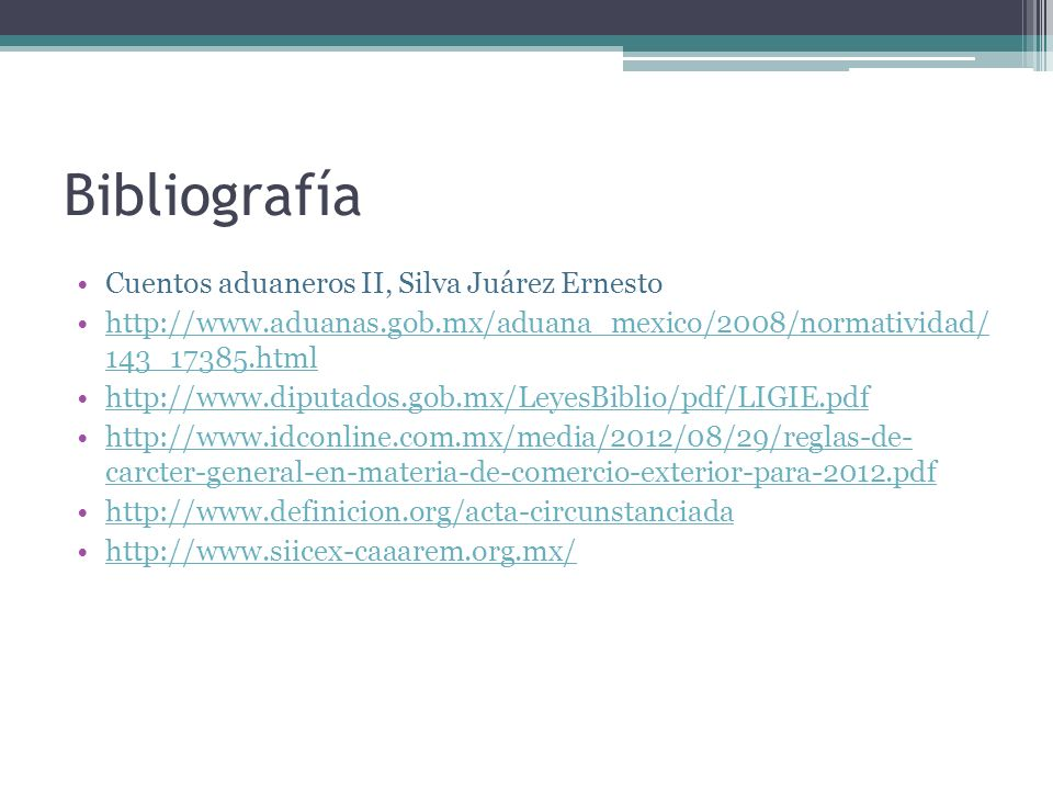 Bibliografía Cuentos aduaneros II, Silva Juárez Ernesto