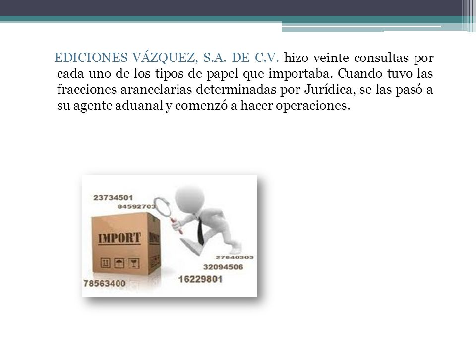 EDICIONES VÁZQUEZ, S. A. DE C. V