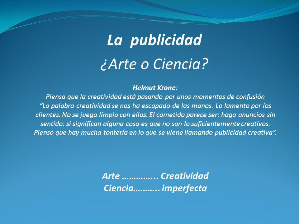 La publicidad ¿Arte o Ciencia