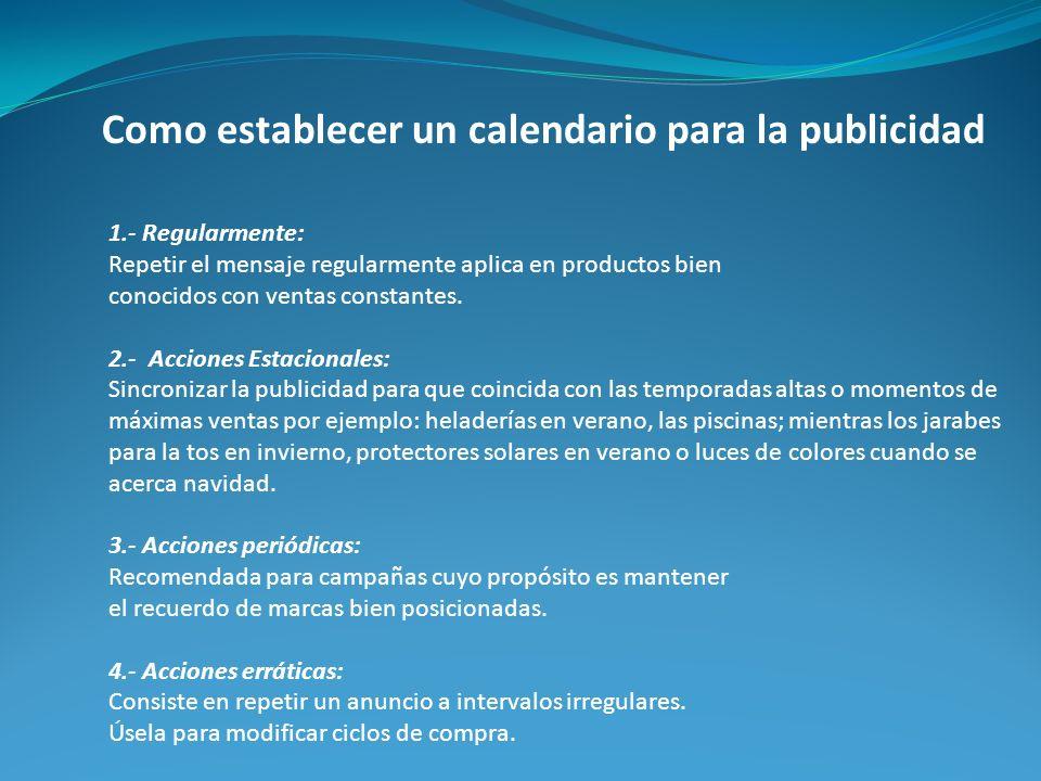 Como establecer un calendario para la publicidad