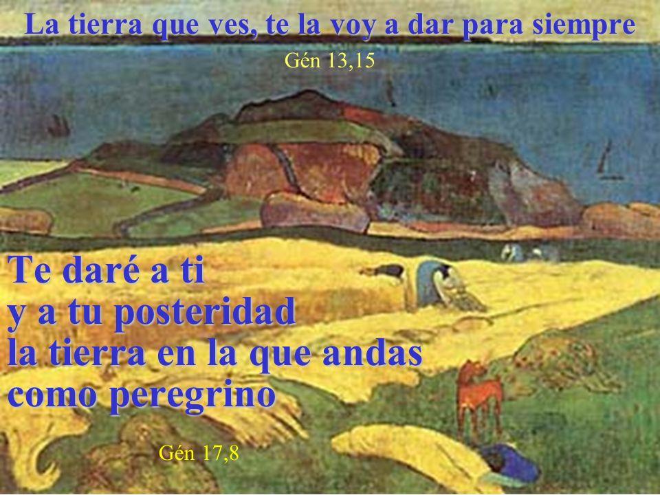 La tierra que ves, te la voy a dar para siempre Gén 13,15