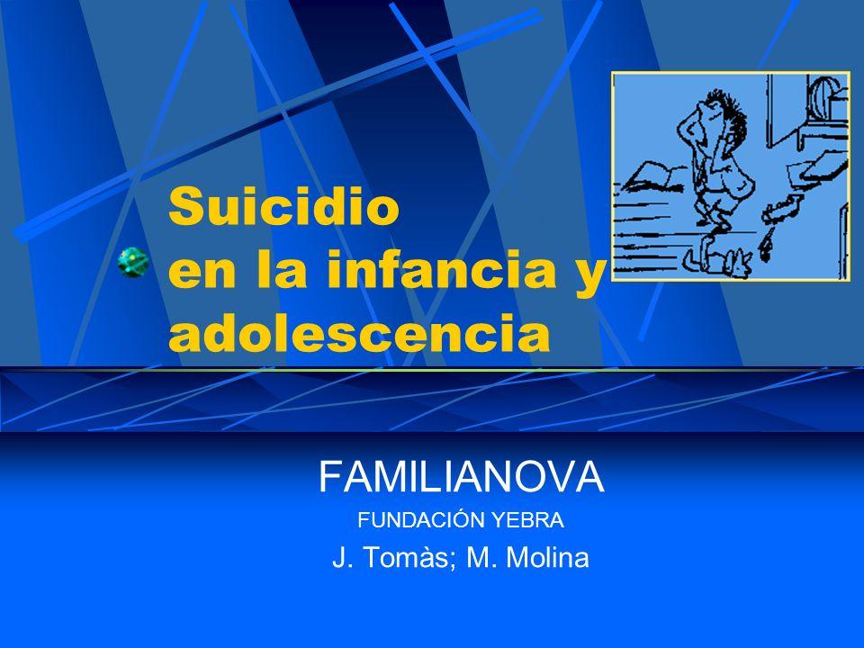 Suicidio en la infancia y adolescencia