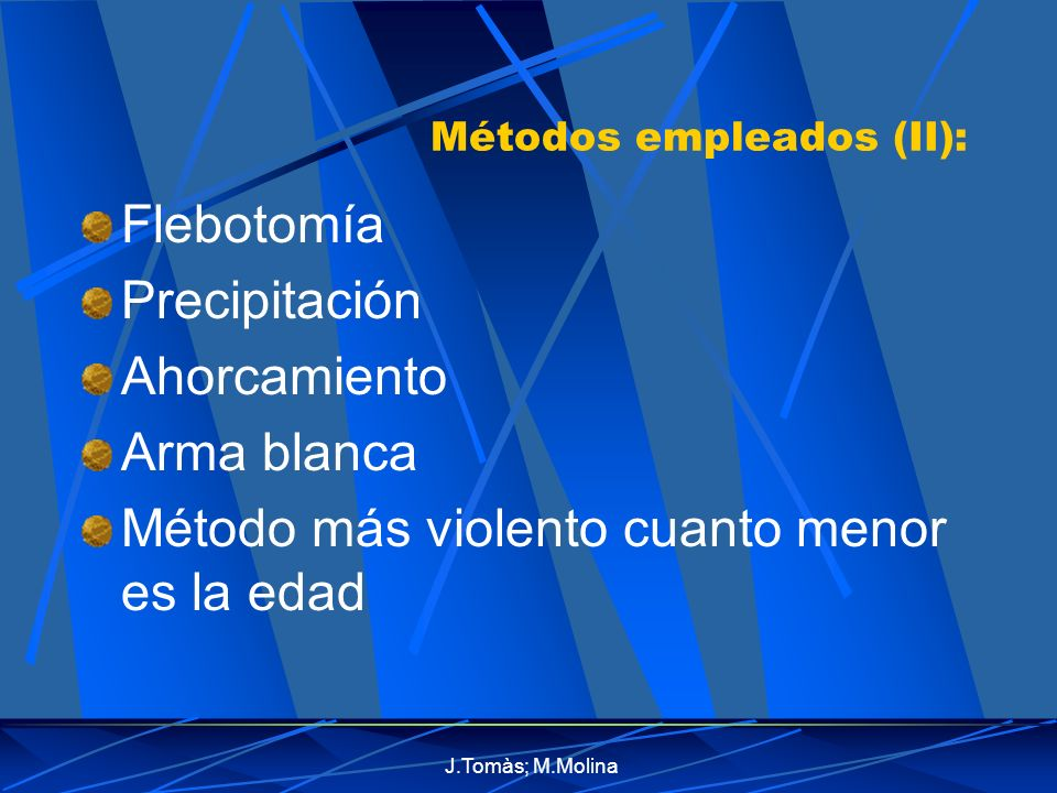 Métodos empleados (II):