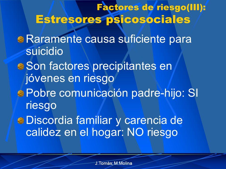 Factores de riesgo(III): Estresores psicosociales