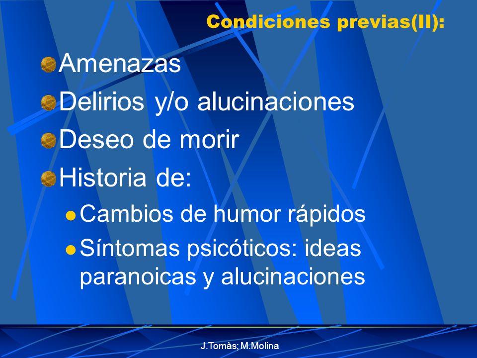 Condiciones previas(II):