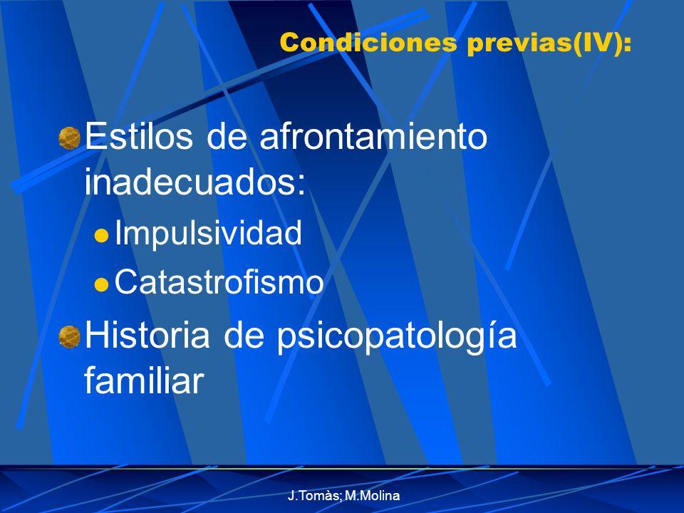 Condiciones previas(IV):