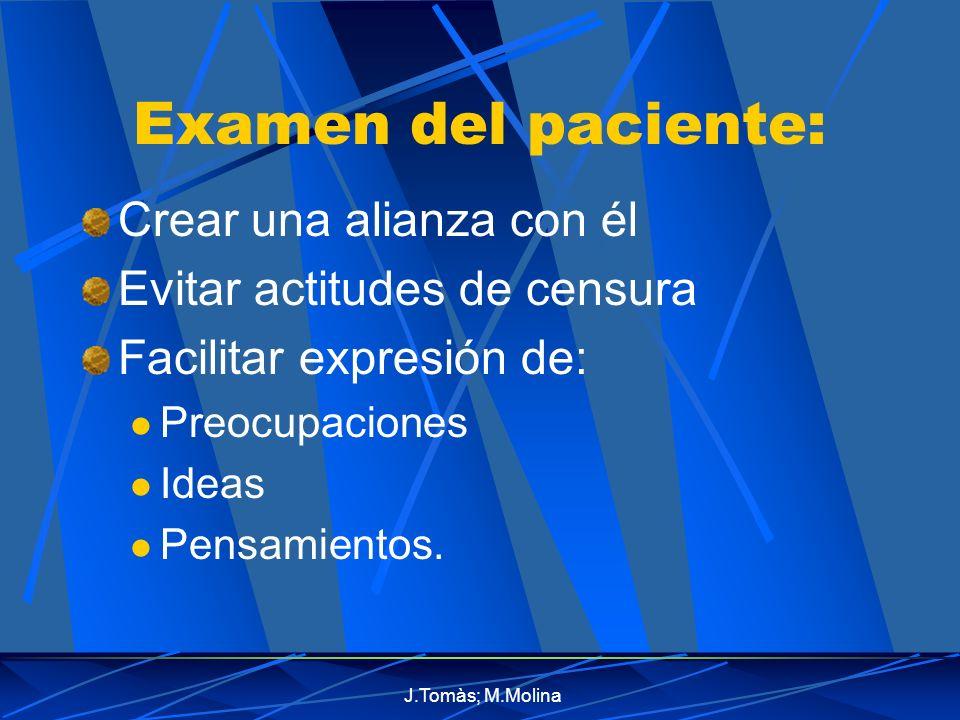 Examen del paciente: Crear una alianza con él