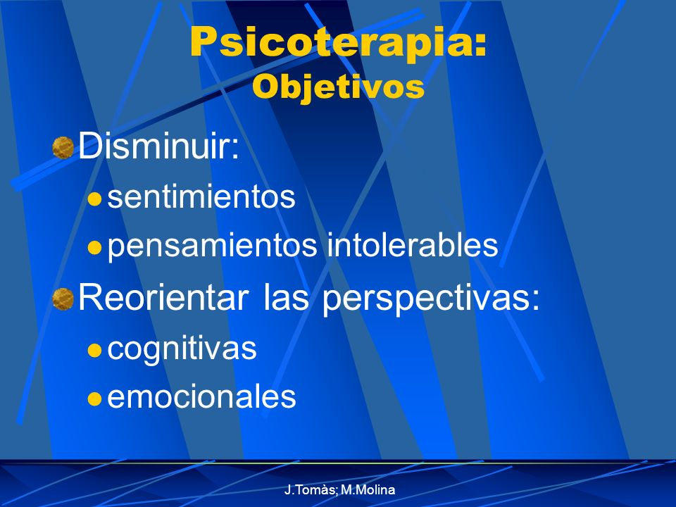 Psicoterapia: Objetivos
