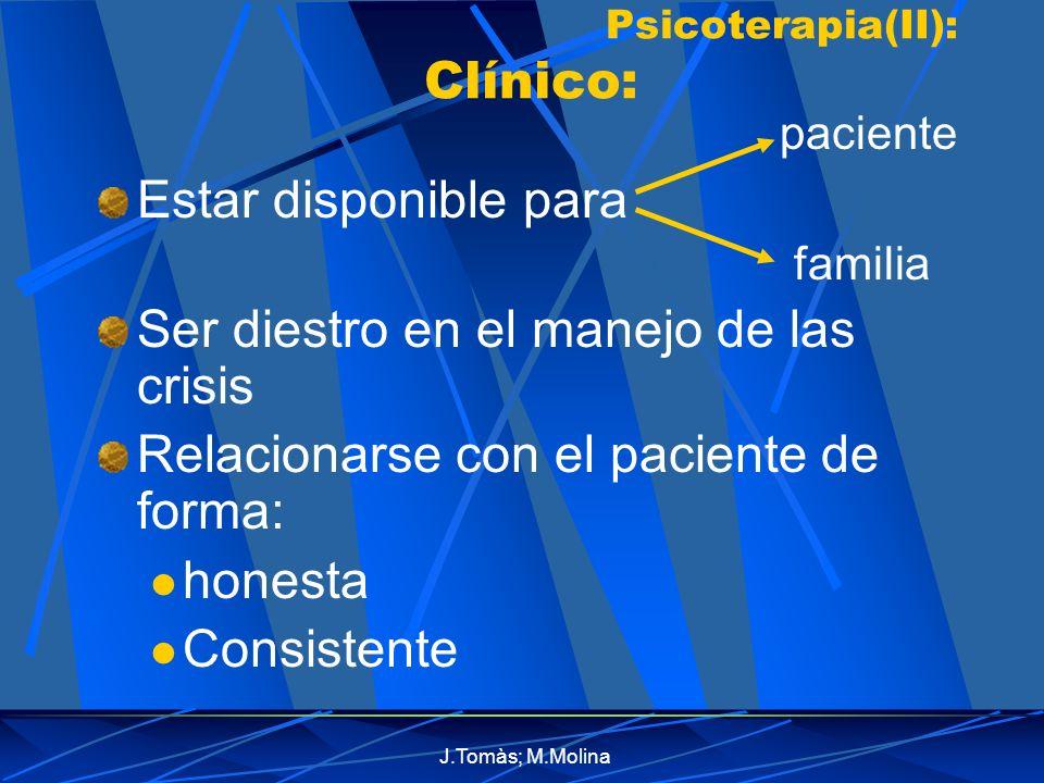 Psicoterapia(II): Clínico: