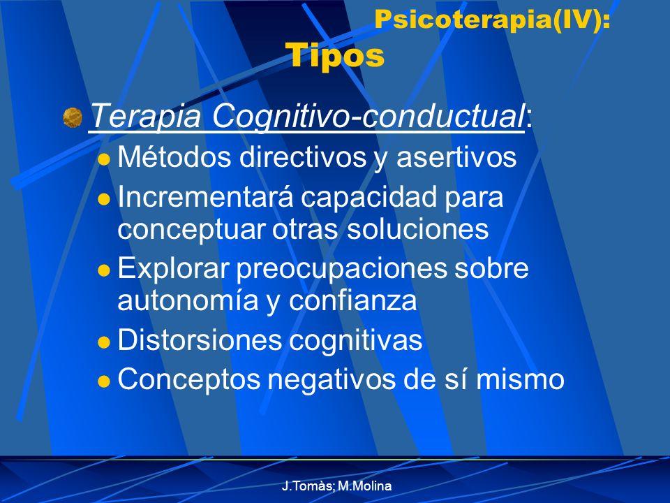 Psicoterapia(IV): Tipos