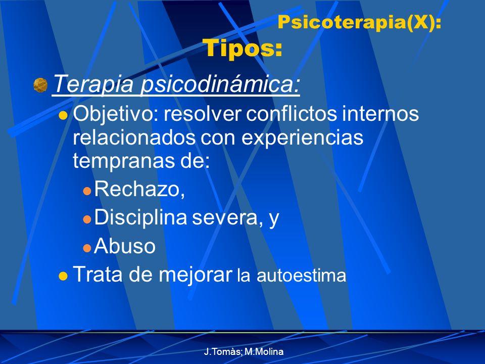 Psicoterapia(X): Tipos:
