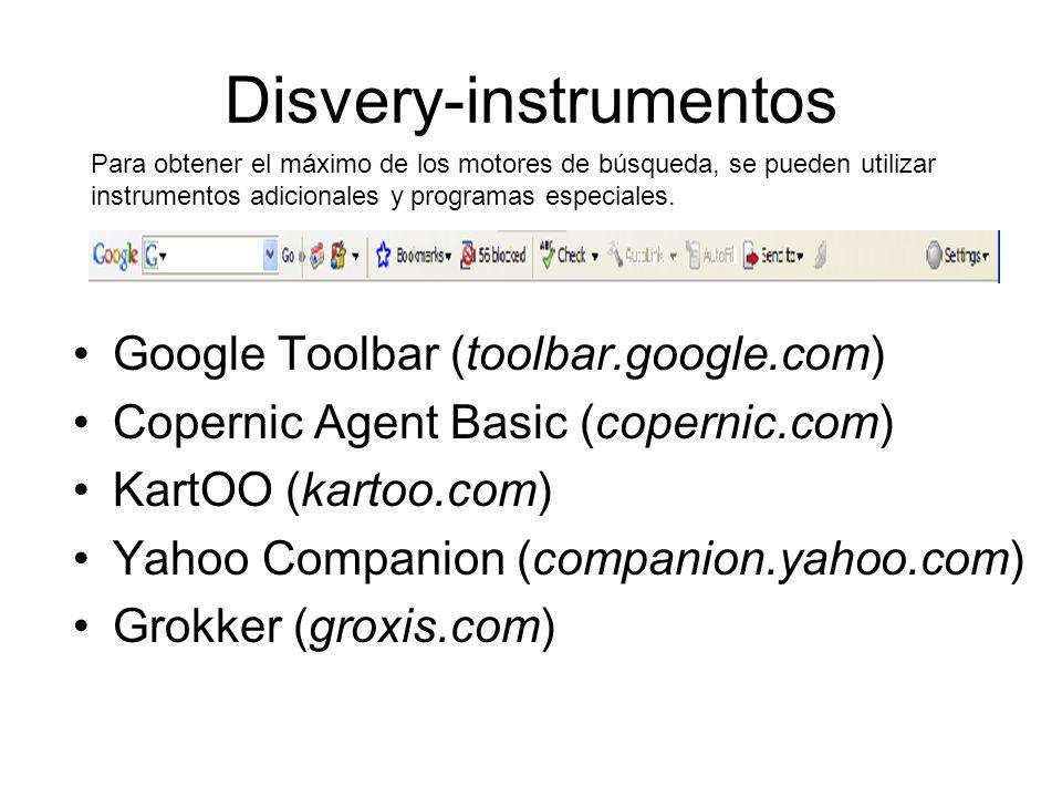 Disvery-instrumentos