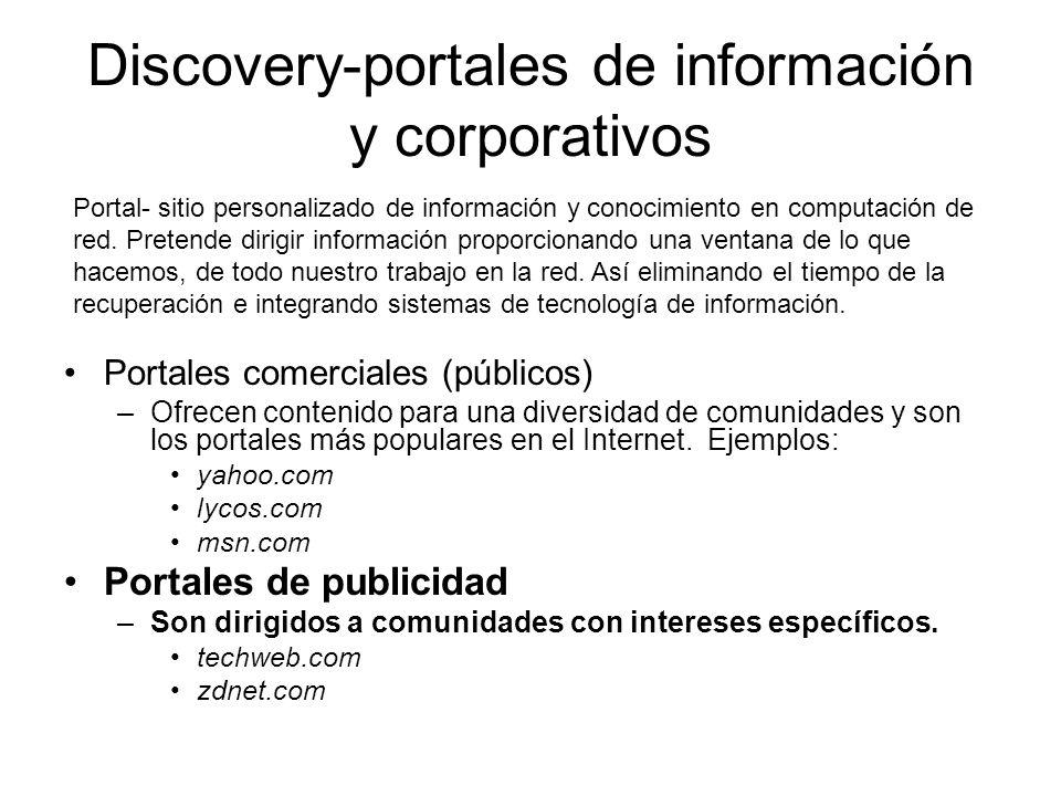 Discovery-portales de información y corporativos