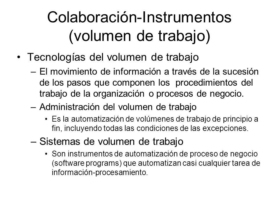 Colaboración-Instrumentos (volumen de trabajo)