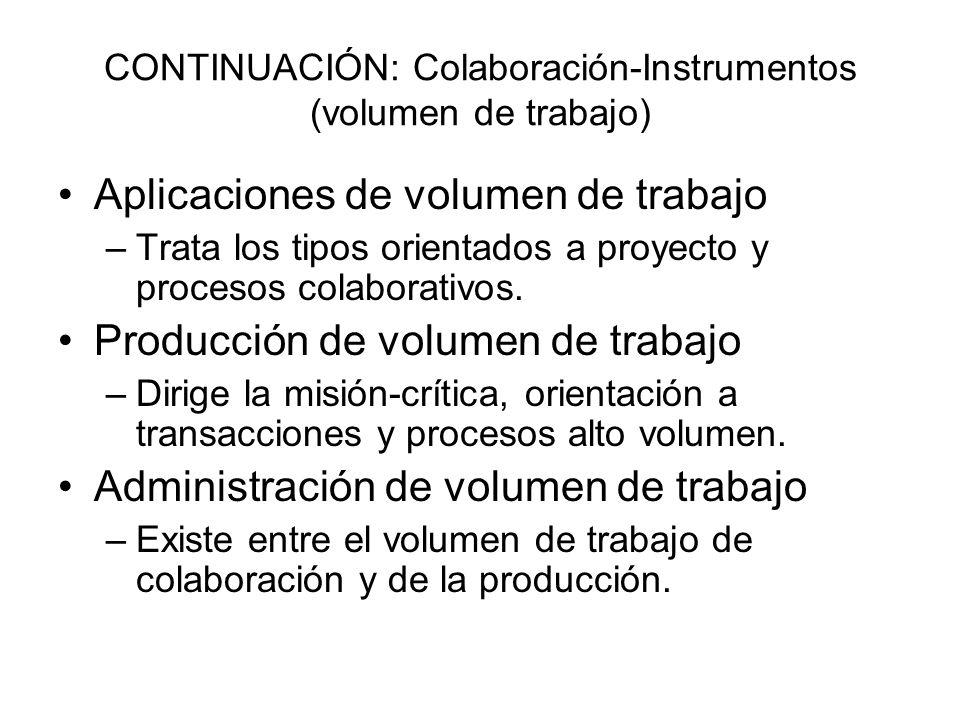 CONTINUACIÓN: Colaboración-Instrumentos (volumen de trabajo)