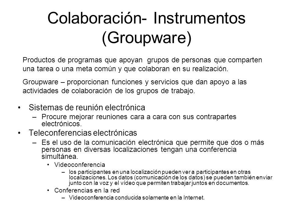 Colaboración- Instrumentos (Groupware)