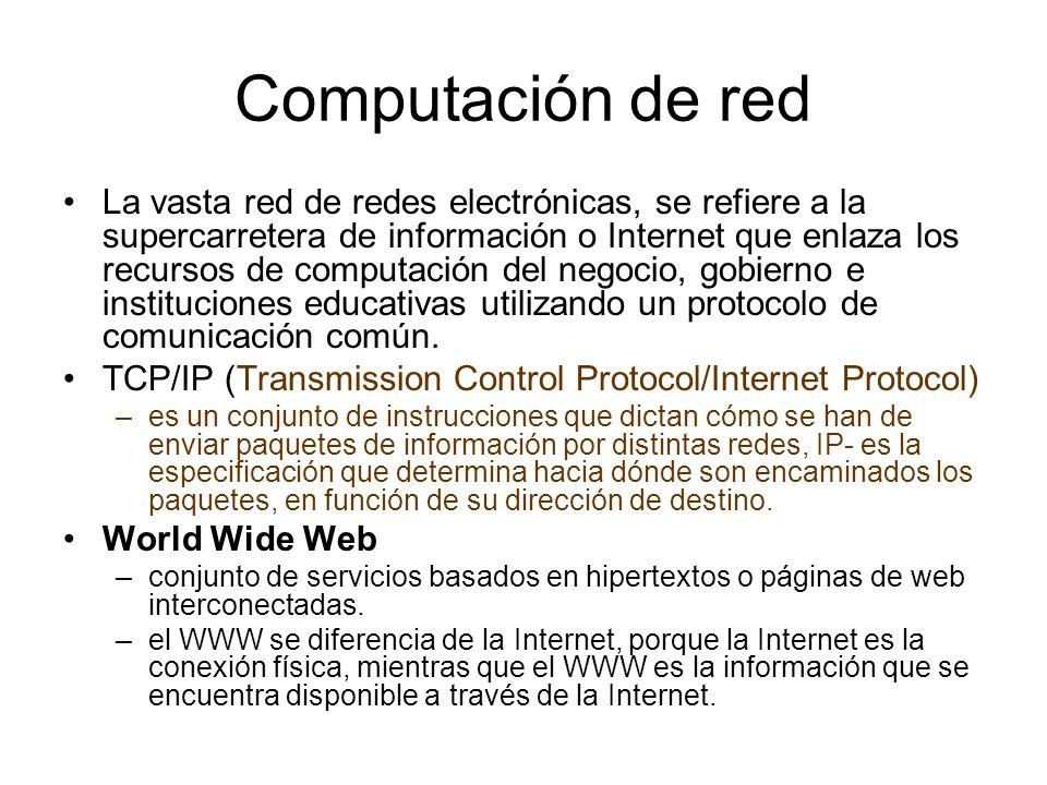 Computación de red