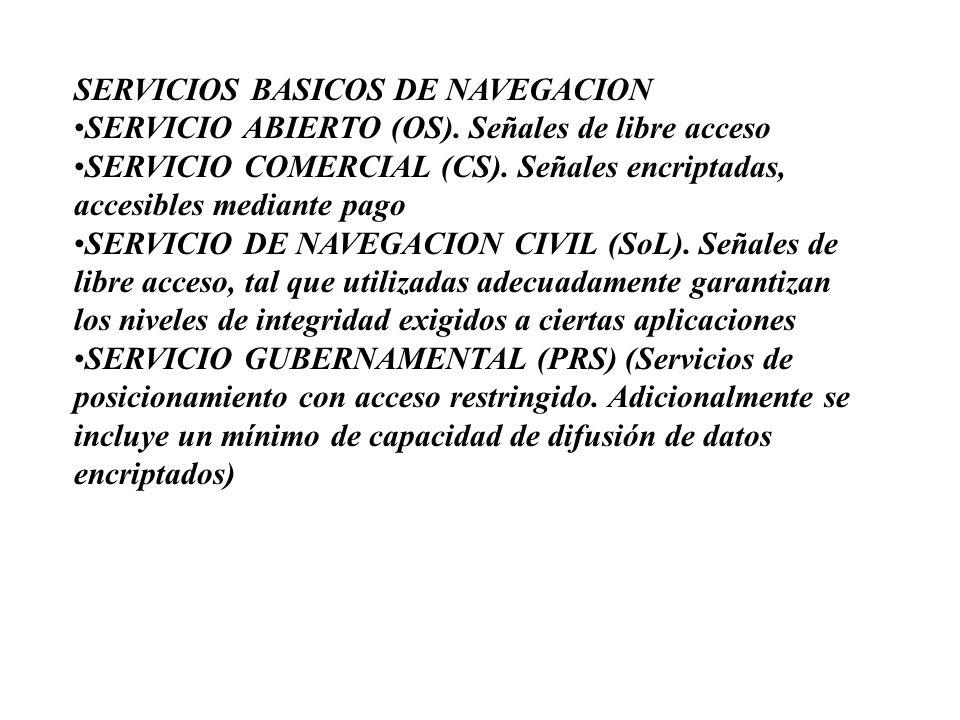SERVICIOS BASICOS DE NAVEGACION •SERVICIO ABIERTO (OS)