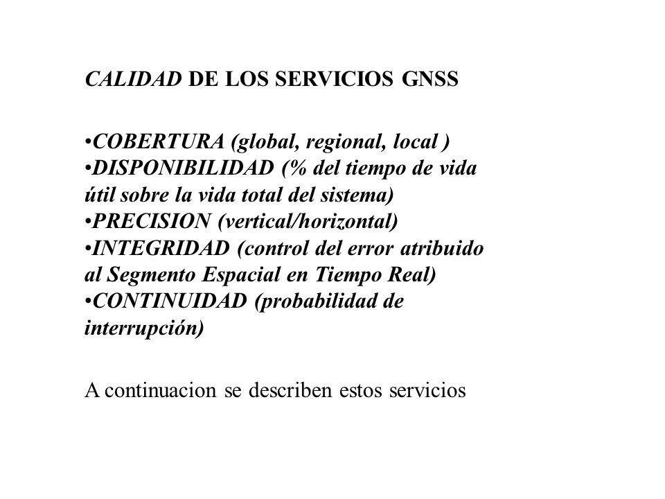 CALIDAD DE LOS SERVICIOS GNSS